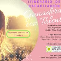 Jornadas formativas – GANADERAS CON TALENTO -19, 20 Y 26 octubre