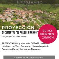 """Proyección del documental """"El Parque Humano""""- Viernes 29, 20:00h"""