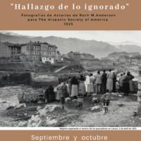 """Septiembre y octubre –  """"Hallazgo de lo ignorado. Fotografías de Asturias de Ruth M. Anderson para la Hispanic Society of America, 1925"""""""